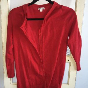 New Merona 3/4 Sleeve Button Up Sweater